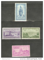 1950 USA National Capitol Sesquicentennial Stamps Sc#989-92 Statue Architecture - United States