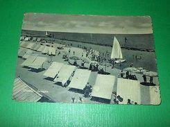 Cartolina Viserba - Spiaggia 1957 - Rimini
