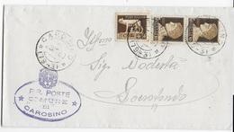 STORIA POSTALE REGNO - ANNULLO FRAZIONARIO - CAROSINO (TA) 79-3 SU PIEGO PER LOCOROTONDO 29.11.1930 - 1900-44 Victor Emmanuel III