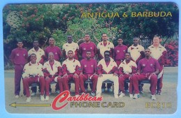Antigua Phonecard EC$20 1996 Cricket Team 145CATB - Antigua And Barbuda