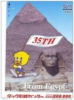 Carte Prépayée  Japon *  Egypte (305) SPHINX * PYRAMIDE * KARTE EGYPT Related  * Ägypten PREPAID CARD Japan * - Paysages