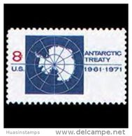 U.S.A. 1971 - Scott# 1431 Antarctic Treaty Set Of 1 MNH - Nuevos