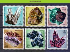 Nbm0650 MINERALEN GEMSTONES MINERALIEN UND GESTEINE MINÉRAUX GERMANY DDR 1972 PF/MNH # - Mineralen