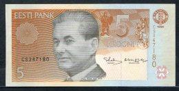 443-Estonie Billet De 5 Krooni 1994 CS347 Neuf - Estonia