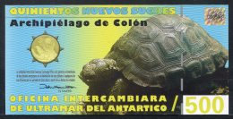 443-Antartica, Iles Galapagos, Billet De 500 Sucres 2009 Neuf - Billetes