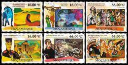 Mozambique Paintings Kandinsky Russia Kirchner Nolde Marc 6v Set MNH Mi:5191-96 - Mozambico