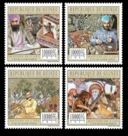 Guinea Hindu Sikh Music Instrument Sikhism 4v Set Michel:8782-8785 - Gambia (1965-...)