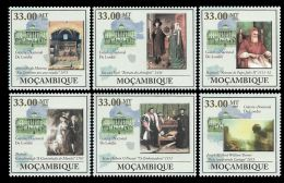 Mozambique Paintings Eyck Messina Raphael Turner Novato 6v Set MNH Mi:4004-09 - Mozambico