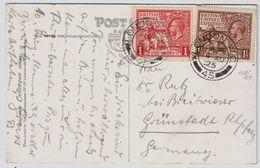 GB, Selt. Ausgabe ,  1925, Beide, Portogerechter Brief!  , # 8649 - Briefe U. Dokumente