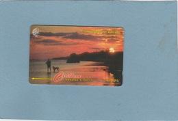 Cayman Islands : CAY-163 H . A Sunset In LITTLE CAYMAN : Rare  . - Kaimaninseln (Cayman I.)