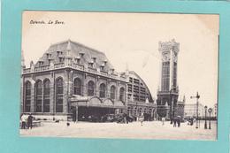Old Postcard Of La Gare,Ostende,Ostend, Flemish Region, Belgium,R35. - Oostende