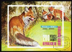 GUINEA ECUATORIAL 1973 - Fuchs, Fox - Block 231 - Unclassified