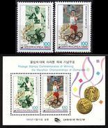 COREA DEL SUR 1992 - SOUTH KOREA - OLYMPICS BARCELONA 92 - YVERT Nº 1568/69 + BF 437 - MICHEL 1724/25 + BLOCK 570 - Verano 1992: Barcelona