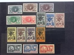 Guinée (AEF) 1906-07 Serie Palmiers Yv. 33-47 ** LUXE ! RARE DANS CETTE QUALITÉ (colonies Françaises Palmier) - Guinée Française (1892-1944)