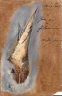 [DC10587] CPA - BARCA A VELA - Viaggiata 1908 - Old Postcard - Barche