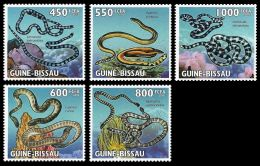 Guinea Bissau Sea Snakes Reptiles 5v Set MNH Michel:4569-4573 - Guinea-Bissau