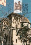 IGLESIA DE SAN JORGE. ALCOY. TARJETA MAXIMA - Kirchen U. Kathedralen