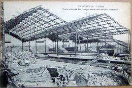 08 CHARLEVILLE QUAIS ET ENTREE PASSAGE SOUTERRAINS APRES L'ARMISTICE GRANDE GUERRE TRAIN CHEMIN DE FER - Charleville