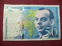 FRANCE Billet De 50 Frs 1992 Légère Déchirure à Droite - 1992-2000 Last Series