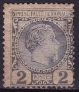 Monaco 1885 Roi Charles I 2 C Lila Y&T 2 Neuf Sans Gomme (aminci) - Monaco