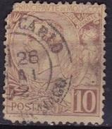 Monaco 1891-94 Prince Albert 1e 10 C. Lilabrun Sur Jaune Y&T 14 - Monaco