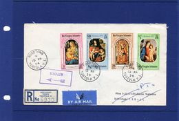 POSTAL HISTORY  15 - 2 -1974 TORTOLA -   AIRMAIL REGISTERED  COVER TO ISRAEL RTS TO ITALY - British Virgin Islands