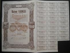 Action 1944 HERSTAL-LIEGE - MAISON SAROLEA - Fabricant De Motos - Part Sociale Au Porteur - Transport