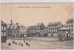 BRAINE-LE-COMTE-PANORAMA DE LA GRAND'PLACE-EDIT.EM.MICHEL-CARTE-ANIMEE-ENVOYEE-1911-VOYEZ LES 2 SCANS-TOP ! ! ! - Braine-le-Comte