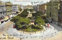 Alexandrie, Place Des Consuls - Edition L. Papazohlou & Co. - Carte Non écrite Au Verso - Alexandria