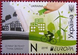 UKRAINE 2016  Europa - CEPT   Think Green  1 V MNH - Ukraine