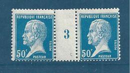 France Millésime  Type Pasteur 50ct Bleu  Du N°176  Neuf * Cote 27€ - Millésime