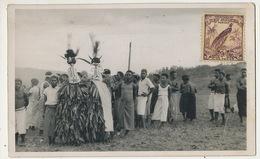 Real Photo Oscar Meyer Secte Secrete Danseurs Doubou à Wau Stamp New Guinea - Papouasie-Nouvelle-Guinée