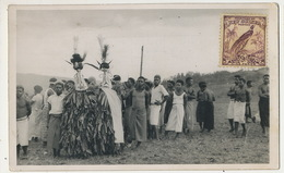 Real Photo Oscar Meyer Secte Secrete Danseurs Doubou à Wau Stamp New Guinea - Papua New Guinea