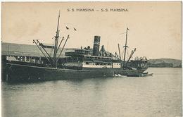 S.S. Marsina Ship  Mission Sacré Coeur Issoudun Indre - Papua New Guinea