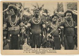 Types De Nouvelle Guinée  Masques Tatouages Format 10/15cms - Papoea-Nieuw-Guinea