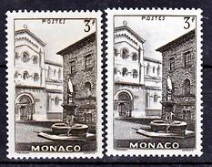 Monaco  258 Variété Cadre Cassé Et Normal Vue Neuf Avec Trace De Charnière* TB  MNH Sin Charnela - Variedades Y Curiosidades