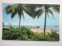 Postcard Jetty Through Coconut Palms Green Island Near Cairns North Queensland Australia By Murray Views My Ref  B11444 - Cairns