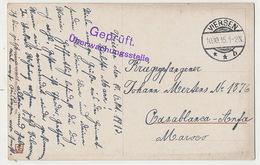 Guerre 1914 Camp Prisonniers Guerre Allemands Casablanca Anfa Der Weltkrieg Depuis Viersen - Casablanca