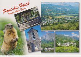 05 PONT DU FOSSE / MULTIVUES AVEC VUE GENERALE / CLOCHER / FONTAINE - France