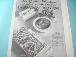 ANCIENNE PUBLICITE LES GRANDS BAPTEME LA MARQUISE DE SEVIGNE 1930 - Posters