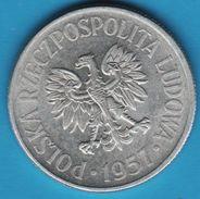 POLAND 50 GROSZY 1957  Y# 48  RZECZPOSPOLITA POLSKA LUDOWA - Poland