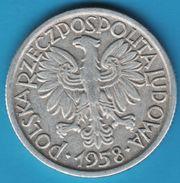 POLAND 2 ZLOTE 1958  Y# 46  RZECZPOSPOLITA POLSKA LUDOWA - Poland