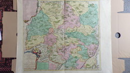 AFFICHE -CARTE ORIGINALE GEOGRAPHIQUE DIOCESE LIMOGES-1742- A MONSEIGNEUR ANTOINE DE CHARPIN DE GENETINES- ABBE PIPERAC - Topographical Maps