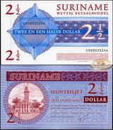 Suriname. 2 1/2 Dollars (Unc) 2004. Banknote Cat# P.156 [DLC.BN02813] - Suriname