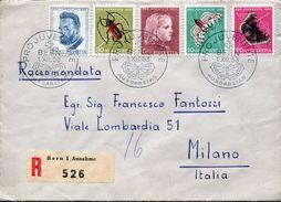 23427 Switzerland, Fdc Circuled Registered Pro Juventute 1953, Butterfly, Papillons,  Schmetterlinge, Ferdinand Hodler - Lettres & Documents