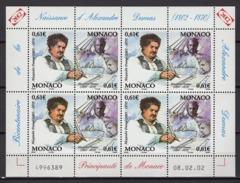 MONACO 2002 - FEUILLE DE 8 TP N° 2363/2364 - NEUFS** - Bloques