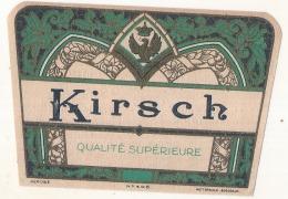 étiquette  - Kirch Qualité Supérieur Décor Art Déco - Dorure  - Modele Imprimeur 405 (explication Dos) 2petits Clairs - - Whisky