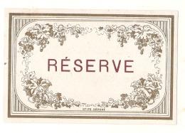 étiquette  -générique Réserve   - Modele Imprimeur 173 (explication Dos) 4petits Clairs - - Whisky
