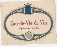 étiquette  - Imprimeur Eau De Vie De  Vin  Du Languedoc - Whisky