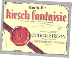 étiquette  - Kirsch Fantaisie - LEMERCIER Fougerolles - Whisky
